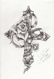 an idea for the cross tattoo that i want but a butterfly not