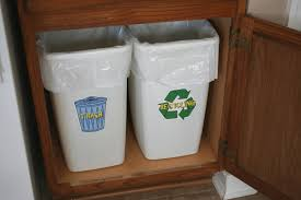 ideas kitchen recycle trash cans can trash bags be recycled