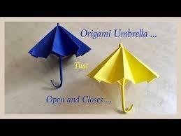 How To Make Paper Umbrellas - origami umbrella that open and closes diy origami umbrella