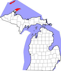 Map Of Upper Michigan by File Map Of Michigan Highlighting Keweenaw County Svg Wikimedia