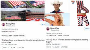 Usa Flag Rules Twitter User Nails Why The U0027disrespecting The Flag U0027 Argument Is