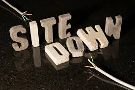 Site Unavailable - site down text when website is unavailable stock image image of