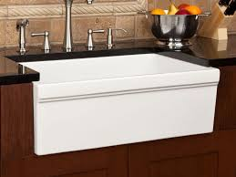 kitchen sink white ceramic apron front kitchen sink and brushed