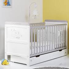 Obaby Crib Mattress Obaby Winnie The Pooh Dreams Wishes Cot Bed White With Grey Trim