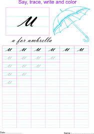 cursive small letter u0027u u0027 worksheet