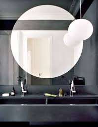 cool large round bathroom mirrors 75 for your home designing