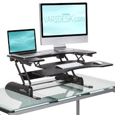 office desk with adjustable keyboard tray varidesk pro plus height adjustable standing desk with keyboard