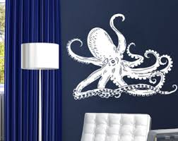 Octopus Bathroom Accessories by Octopus Wall Decal Etsy