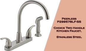 peerless two handle kitchen faucet a perfect mix of traditional the curves that are found in this faucet have ergonomically designed handles with a gooseneck spout that s not all the stainless steel finish