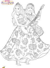 Coloriage Barbie princesse et popstar sur Hugolescargotcom
