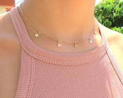 star choker necklace images Gold star choker necklace star necklace boho jewelry jpg