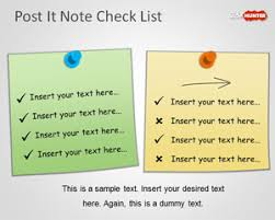 free powerpoint check list template with post it notes free