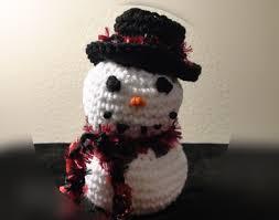 how to make crochet frozen snowman left