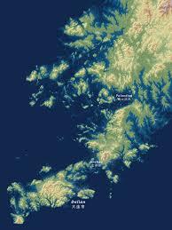 Dalian China Map Submerged Chinafile