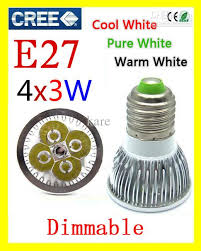 best retail led spotlight lamp 4x3w 12w e27 mr16 gu10 dimmable 110