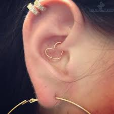 heart cartilage cartilage daith ear heart piercing