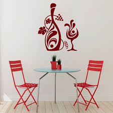 wine wall murals promotion shop for promotional wine wall murals wall decals wine bottle grape kitchen love vinyl sticker murals wall decor