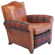 Tartan Armchairs Gorgeous Club Armchair Small Scale Club Chair In Leather And