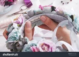 handmade headbands making home workshop unrecognizable stock photo