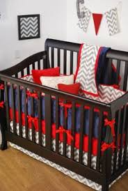 Gray And White Chevron Crib Bedding Nautical Theme Nursery With Navy And Crib Bedding And Accents