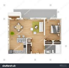 apartment floor plan top view isolated stock illustration