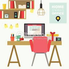 home interior vector home office flat interior vector illustration vector thinkstock