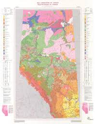 Map Alberta Canada by Soil Landscapes Of Canada Version 1 0