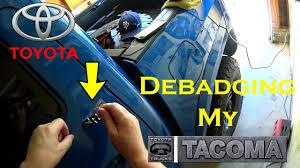 toyota garage debadging my 2016 toyota tacoma tim u0027s tacoma garage ep 30 youtube