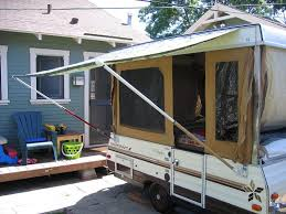 Best Way To Clean Rv Awning Make Your Own Awning Track Hangers Pop Up Camper Redo