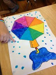 rainbow umbrellas color wheels wheels and art lessons