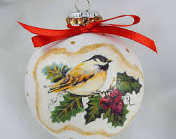 decoupage ornament etsy