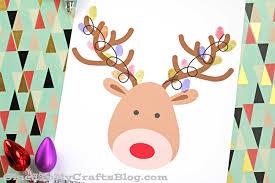 thumbprint christmas reindeer free printable glued to my crafts
