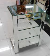 Mirrored Furniture For Bedroom by Aliexpress Com Buy Mr 401002 Beveled Edged Mirrored Night Stand