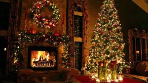 classic christmas motion background animation perfecty loops classic christmas with a fireplace and beautiful background