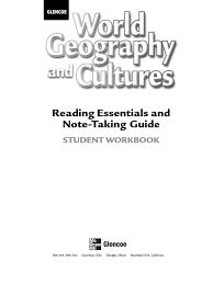world geography and cultures reading essentials and note taking
