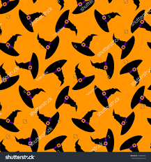 seamless halloween background witch hat halloween seamless background pattern stock vector