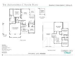 new home floorplan the alexandria capitol city homes