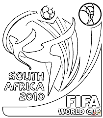 fifa world cup 2010 coloring page free printable coloring pages