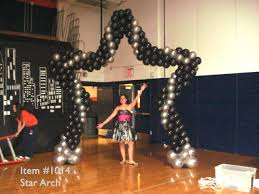 stage or entrance star shape balloon arch prom dance balloon