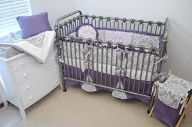 Purple Bedding For Cribs Chic Purple Damask Crib Bedding Only For Room
