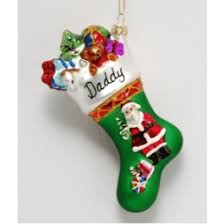 santa claus personalized glass ornament 500 glass