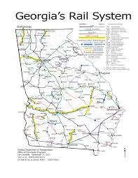 Georgia State Map by 1275 1650 Railsystemmap In Georgia State Rail Plan Maps By John