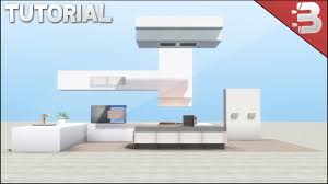 minecraft modern kitchen tutorial youtube
