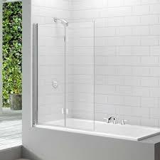 merlyn two panel hinged square bath screen 350 54 at allbits