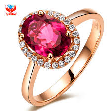 real crystal rings images Brand fashion red crystal wedding rings for women rose gold filled jpg