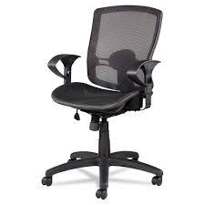 etros series mesh mid back synchro tilt chair by alera aleet4218