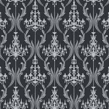 black and white wallpaper ebay damask wallpaper black black on damask wallpaper home decor silver