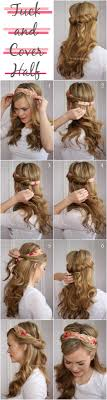 tuck in hairstyles the prettiest tucked hairstyle tutorials stop drop tuck