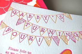 gabby u0027s whimsical pink orange 4th birthday party invitations