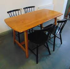 elm trestle dining table from ercol 1950s for sale at pamono